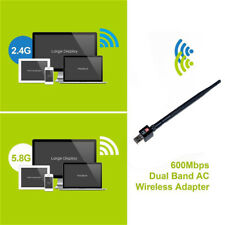 2.4/5Ghz 600Mbps dual band wireless usb wifi network lan adapter antenna SEAU
