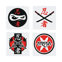 NINJA PARTY Samurai Warrior Temporary Tattoos Favours Pack of 36 Free Postage