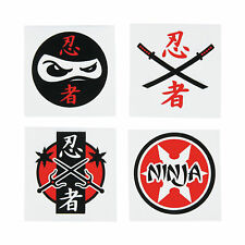 NINJA PARTY FAVOUR Ninja Warrior Temporary Tattoos Pack of 36 Free Postage