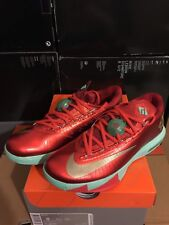 New Mens Nike Air Zoom KD VI Christmas XMas Green US Size 8 KD 6 Kevin Durant