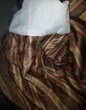 Ralph Lauren QUEEN TICKING STRIPE BEDSKIRT Multi color stripe Sage Green Tan