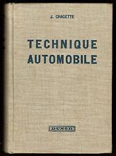 Technique Automobile, Tracteurs, Motocyclettes, Jacques Chagette Dunod 1951, 2éd