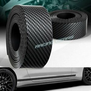 JDM 1.5M X 40MM CARBON LOOK BODY SIDE SKIRT PROTECTOR DOOR SILL BAR SCUFF PLATE