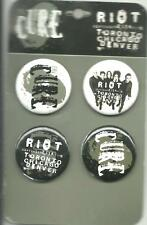 CURE riot festival 2014 BUTTON BADGE PACK SET OF 4 official ex tour merchandise