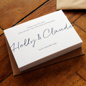 East Coast - Wedding Save the Date or Save the Evening - Luxury . Modern . Chic