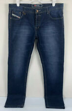 Diesel Men's Denim Jeans Size 38 Made in Italy Blue/Indigo Slim Straight Leg