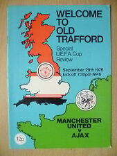 1976 UEFA CUP Special REVIEW- MANCHESTER UNITED v AJAX