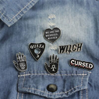 6PCS/Set Punk Enamel Brooch Pin Gift Shirt Collar Lapel Corsage Pin Jewelry L2
