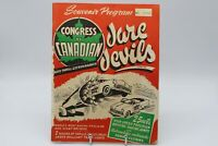 1954 SOUVENIR PROGRAM CONGRESS CANADIAN DARE DEVILS AUTO THRILL EXTRAVAGANZA