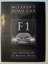 MCLAREN F1 orig 1994 Autocar & Motor Brochure Book Magazine