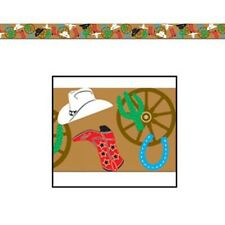 COWBOY WESTERN HORSE PARTY TAPE 20FT DECORATION!