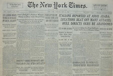 5-1936 May 5 ITALIANS REPORTED AT ADDIS ABABA; LEGATIONS BEAT OFF ATTACKS Times