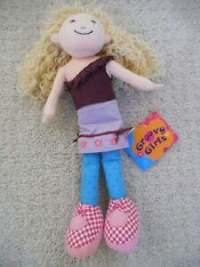 "Manhattan Toy GROOVY GIRLS 12"" KELSEY Yellow Yarn hair Cloth Doll Plush with Tag"
