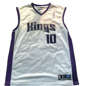 Reebok Sacramento Kings Jersey Sz XL Bibby 10 NBA Authentic Team Apparel