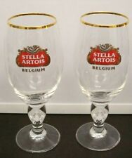 2 Stella Artois Belgium Goblets Barware 33 Cl