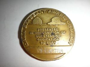 US Army DRILL SERGEANT AWARD OF MERIT To VT CARTER 2-Side Challenge Coin