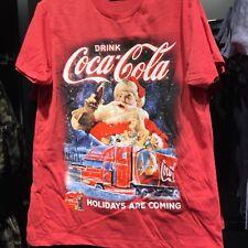 Primark Mens CHRISTMAS COCA COLA T Shirt HOLIDAYS ARE COMING