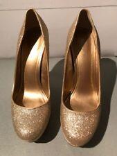 Aldo Capecoral gold sparkly glittery platform heels EUR 40, UK 6.5