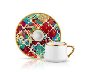 Koleksiyon Amazon Tropic Turkish coffee set 6 pieces