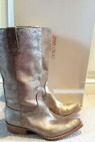Jimmy Choo Gold Leather Pointed Boots Size 36
