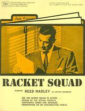 REED HADLEY RACKET SQUAD RARE ORIGINAL 1960 TEC TV PRESS SHEET
