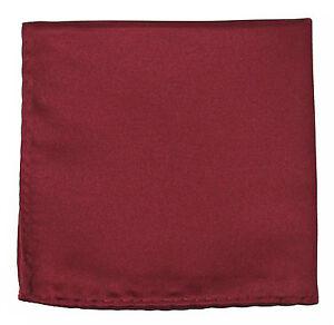New Men's Polyester pocket square hankie only burgundy prom wedding