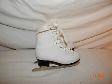Boys Girls Youth Ice Hockey Skates Size 2 WHITE