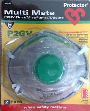 Protector P2GV Carbon 2pk Multi Mate Dust Respirator Mask For Welding Painting