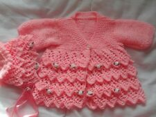 Baby or Reborn Layers of Lace Coat Knitting Pattern
