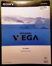 SONY FD Trinitron VVEGA KD-34XBR960 XBR OWNERS MANUAL128pages PRISTINEneverUSED