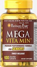 Puritan's Pride Mega Vita Min Multivitamin for Seniors Timed Release-100 Coated