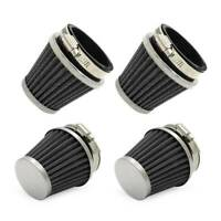 4x 52mm Universal Air Intake Tapered Air Filters Cleaner Set For Kawasaki Suzuki