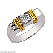 1.91ct off white Yellow Genuine moissanite wt simulated diamonds 925 silver M011