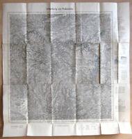 Topographische Karte, Umgebung von Probstzella, 1937