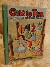 1942 One to Ten Number Book McLoughlin Bros Childrens Little Color Classics 811