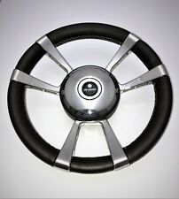 Beautiful New GUSSI ITALIA Boat Steering Wheel STAINLESS KEYED HUB Leather