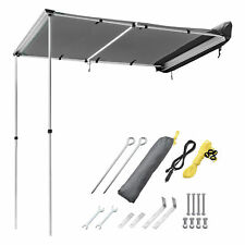 New listing 6.6x4.6' Awning with LED Light Retractable Pull Out Tent Shelter Camping Grey
