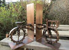 Hand Made Recycled Bike Chain Metal Bike Bicycle Book Ends Holder Display Stand