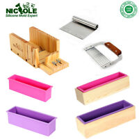 Making Soap Kits Tools Loaf Cold Process Silicone Mold Cutter Blades Set-5 DIY