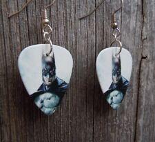 Batman Guitar Pick Earrings with Surgical Steel Earwires