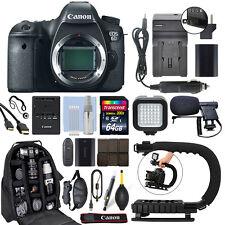 Canon EOS 6D 20.2MP Full-Frame Digital SLR Camera Body + 64GB Pro Video Kit