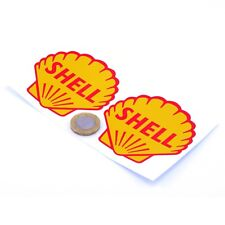 Shell Stickers Classic Car Motorcycle Racing Sticker 1950s Vinyl Decals 75mm x2