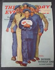 Norman Rockwell October 4, 1941 Saturday Evening Post, COVER ONLY