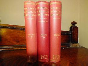 Melrose Regality Records 1547-1706 Scottish History Society 3 vols