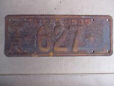 1935 TEXAS TRAILER LICENSE PLATE ORIGINAL FORD CHEVY GMC 35 HOT RAT STREET ROD