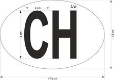 oval sticker flag country bumper decal car CH switzerland swiss conform