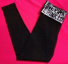 Victoria's Secret PINK Sequin Bling Leggings Fashion Show Small NEW