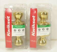 (Set of 2) Kwikset Polished Brass Tylo Passage Knob 200T 3 Cp V1