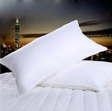 King Size 100% Hungarian Goose Down Filled Pillow,1800TC Egyptian Cotton Cover