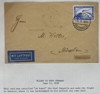 1930 Germany Graf Zeppelin LZ 127 Flight Airmail Cover To Munich Sc#C35